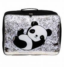 Koffer: Glitzer - Panda