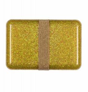 Brotdose: Glitzer - gold
