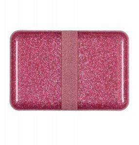 Brotdose: Glitzer - rosa