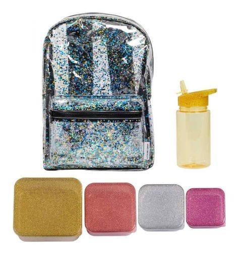School set: Rucksack - Gold blush