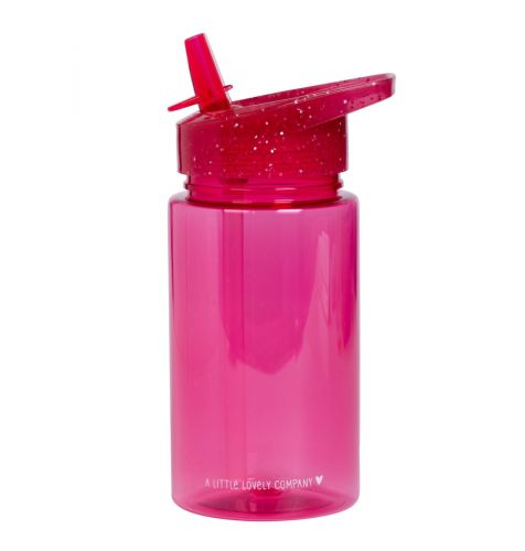 Trinkflasche: Glitzer - rosa