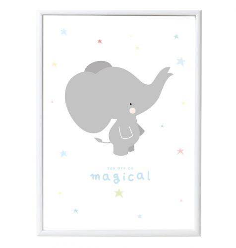 Poster: Grauer Elefant
