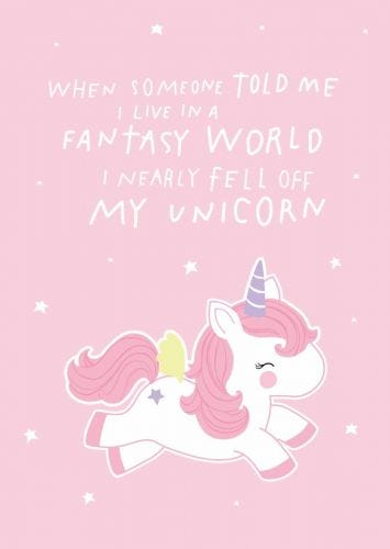 Postkarte fantasy einhorn