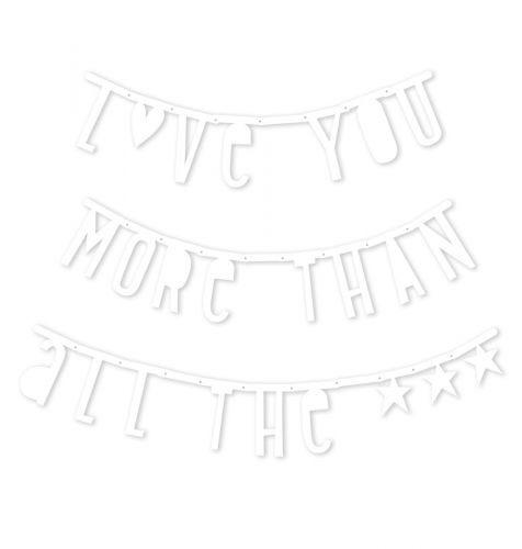 Buchstabenbanner: Weiß
