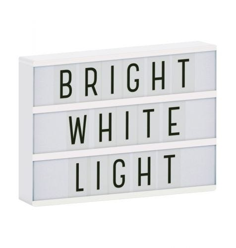 lightbox a4 weiß