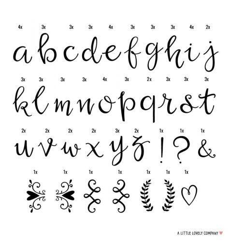 Lightbox Buchstabenset: Script