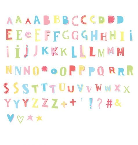 Lightbox Buchstabenset: Funky - Farbig