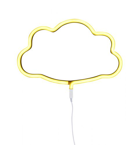 neon style light cloud yellow on