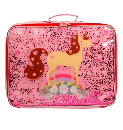 Koffer: Glitzer - Pferd