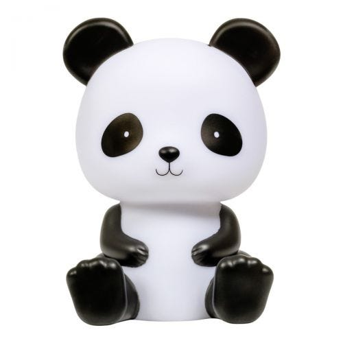 night light panda front view