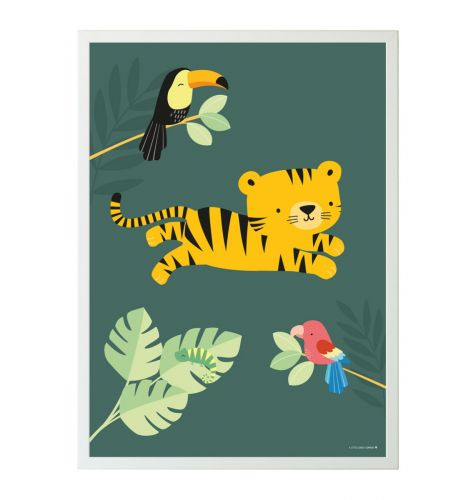 Poster jungle tiger
