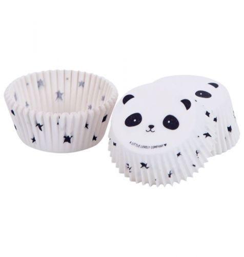 white cupcake cases panda