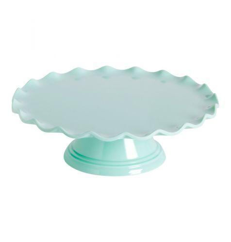 Tortenplatte: Welle - Mint