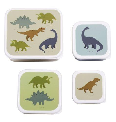 Brot- und Snackdosen Set: Dinosaurier