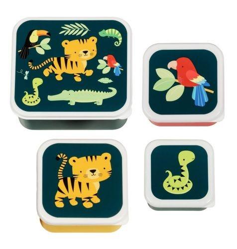 Brot- und Snackdosen Set: Dschungel Tiger