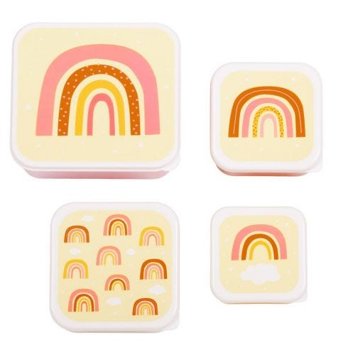 Brot- und Snackdosen Set: Regenbogen