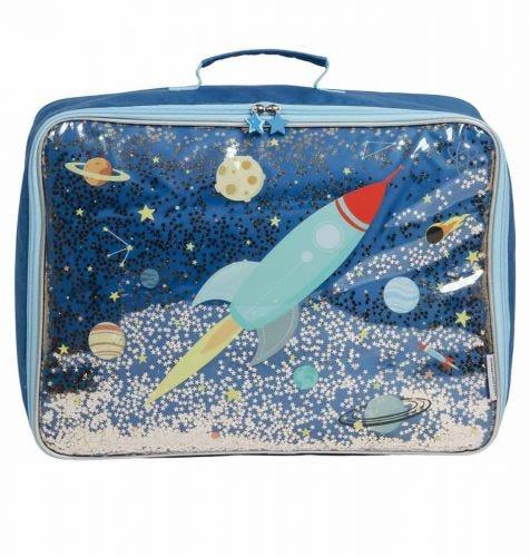 Koffer: Glitzer - Weltall