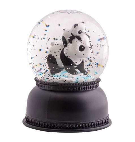 snowglobe light panda