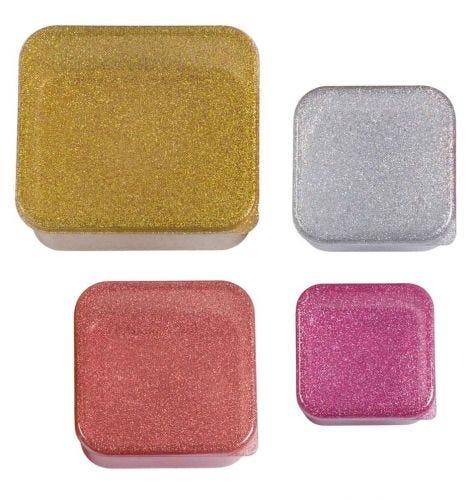 Brot- und Snackdosen Set: Gold blush