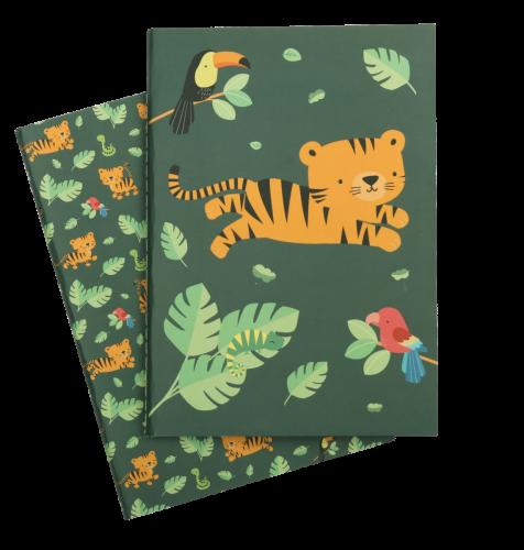 A5 Hefte Dschungel Tiger