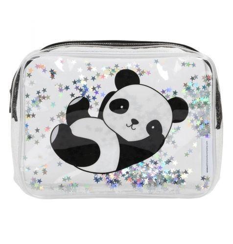 Kulturbeutel: Glitzer - Panda