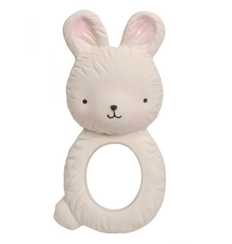 teething ring bunny front view