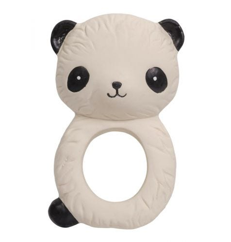 teething ring panda side view