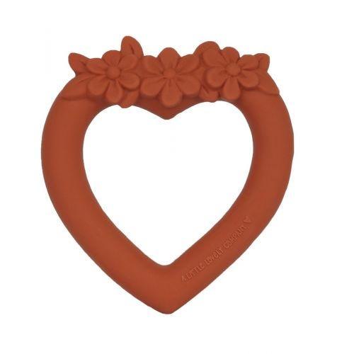 Beißring: Herz - Terrakotta